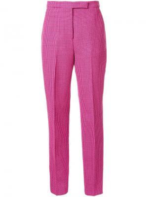Зауженные брюки Yang Li. Цвет: розовый и фиолетовый