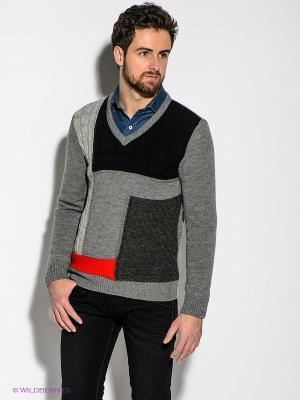 Пуловер Havana & Co. Цвет: темно-серый, красный, черный