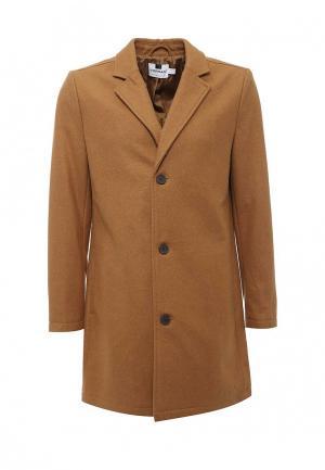 Пальто Topman. Цвет: коричневый