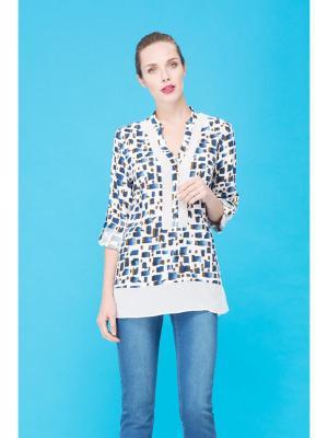 Блуза Endea. Цвет: синий