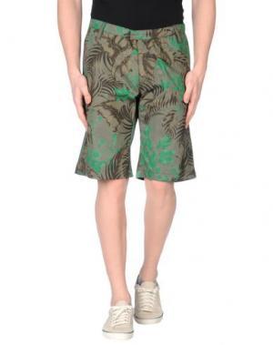 Бермуды U CLOTHING. Цвет: хаки