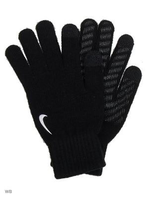 Перчатки вязаные Nike. Цвет: черный, белый
