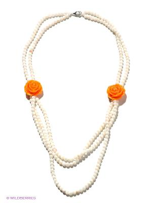 Колье Migura. Цвет: белый, оранжевый