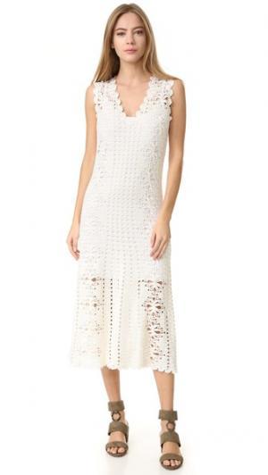 Платье с лимонад Spencer Vladimir. Цвет: белый
