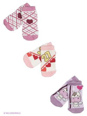 Носки, 3 пары Malerba. Цвет: сиреневый, розовый
