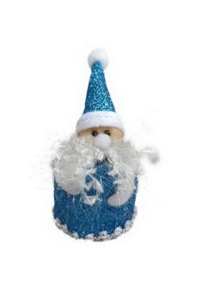 Мягкий сувенир Дед Мороз 10см, полиэстер, СНОУБУМ. Цвет: синий