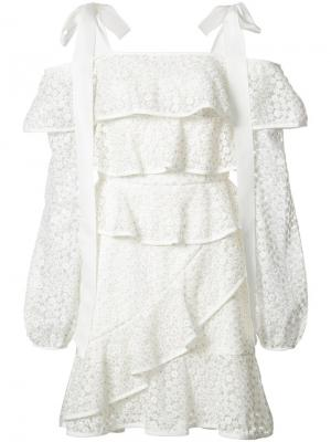 Платье  Society Frill Rebecca Vallance. Цвет: белый