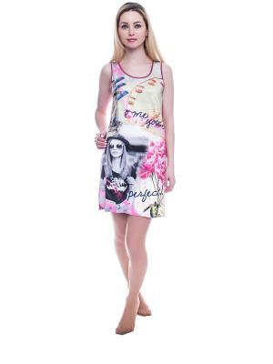Сорочка женская NICOLETTA. Цвет: лиловый