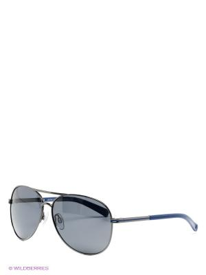 Солнцезащитные очки United Colors of Benetton. Цвет: синий