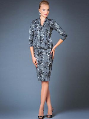 Платье Арт-Деко. Цвет: серый
