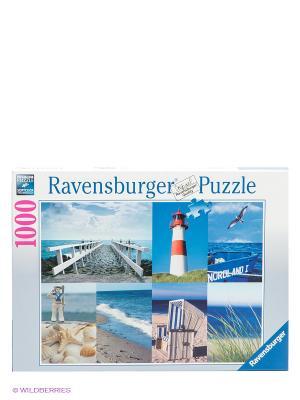 Пазл Морской пейзаж, 1000 деталей Ravensburger. Цвет: синий, белый, красный
