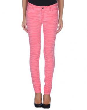 Повседневные брюки REIKO. Цвет: розовый