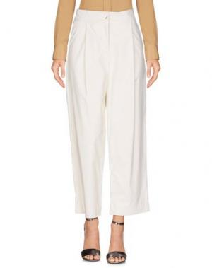 Повседневные брюки CAPSULE. Цвет: белый