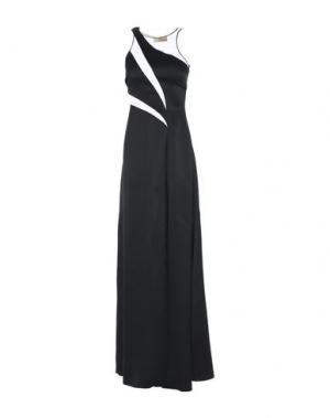 Длинное платье GAI MATTIOLO. Цвет: черный