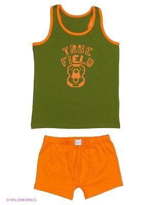 Комплект Sevim kids. Цвет: зеленый, оранжевый