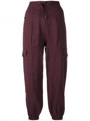 Легкие штаны на завязках Ulla Johnson. Цвет: розовый и фиолетовый