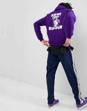 FAIRPLAY Худи фиолетового цвета с принтом Sippin. Цвет: фиолетовый
