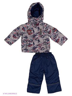 Комплект для мальчика демисезонный /куртка, полукомбинезон/ Rusland. Цвет: серый