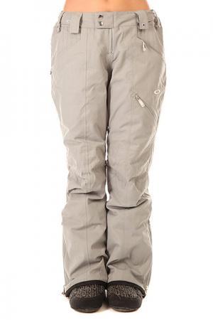 Штаны сноубордические женские  Haver Pant Stainless Steel Oakley. Цвет: серый
