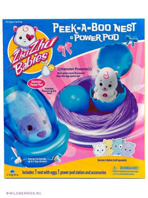 Игровой набор Гнездо Zhu Babies. Цвет: голубой, сиреневый