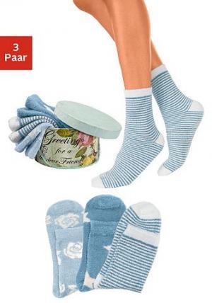 Носки, 3 пары LAVANA. Цвет: 3x синий