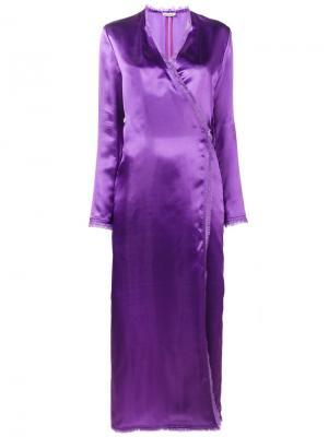 Платье с запахом Raquel Attico. Цвет: розовый и фиолетовый