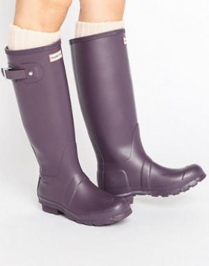 Hunter Высокие резиновые сапоги Original. Цвет: фиолетовый