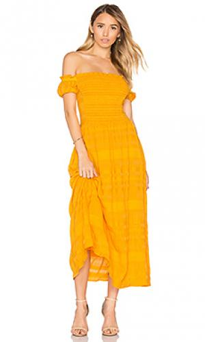 Платье zanna Tanya Taylor. Цвет: желтый