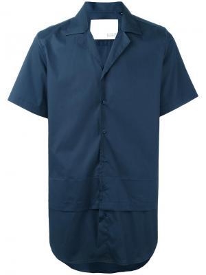 Двухслойная рубашка с короткими рукавами Matthew Miller. Цвет: синий