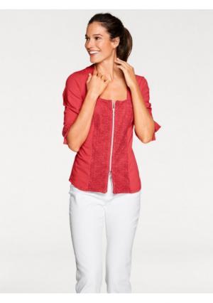 Блузка PATRIZIA DINI. Цвет: белый, красный, темно-синий, черный