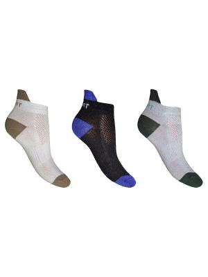 Носки 3 пары Master Socks. Цвет: черный, зеленый, бежевый, белый