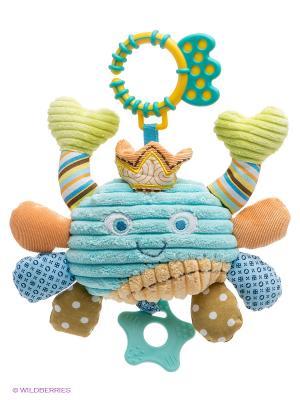 Развивающая игрушка Крабик Жирафики. Цвет: бирюзовый, салатовый