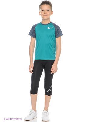 Тайтсы COOL HBR COMP 3/4 TIGHT YTH Nike. Цвет: черный