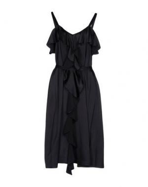 Платье до колена SUOLI. Цвет: черный