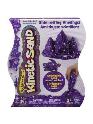 Песок для лепки драгоценные камни, Kinetic sand, 455гр, цвет фиолетовый SPIN MASTER. Цвет: фиолетовый