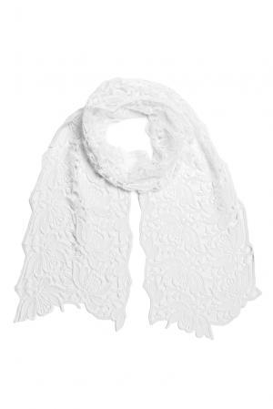 Кружевной шарф 157996 Plauener Spitze. Цвет: белый