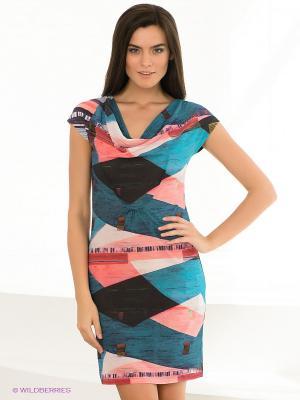 Платье ALBA MODA. Цвет: синий