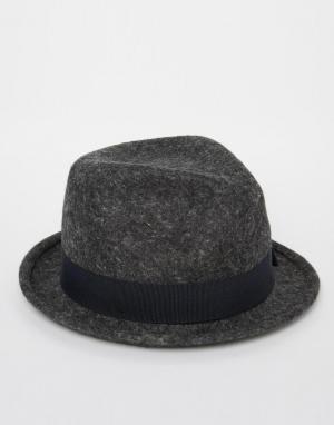 Catarzi Шляпа с круглой плоской тульей. Цвет: серый