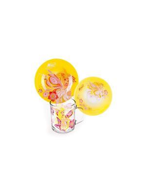 Набор Винкс Стелла стекло WINX CLUB. Цвет: желтый