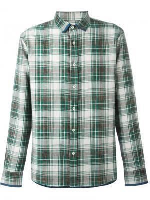 Рубашка в клетку Al Duca D'Aosta 1902. Цвет: зелёный