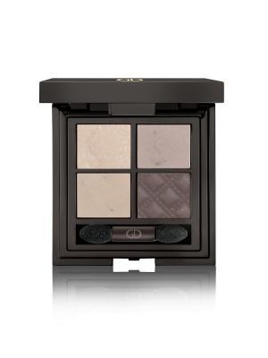 Тени для век четырехцветные IDYLLIC SOFT SATIN  (WITHOUT MIRROR) No.29 GA-DE. Цвет: светло-серый, молочный, темно-коричневый