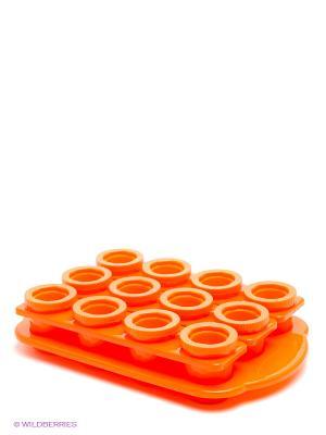 Ледяные чарки. Форма для заморозки рюмок из льда Экспедиция. Цвет: оранжевый