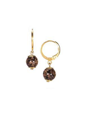 Серьги Amato цвет 064 (black) Bottega Murano. Цвет: черный, золотистый