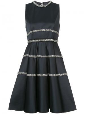 Flared dress Dice Kayek. Цвет: синий