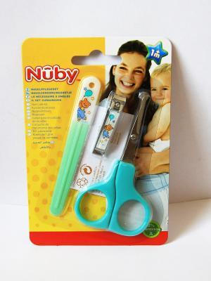 Маникюрный набор для малыша NUBY. Цвет: бирюзовый