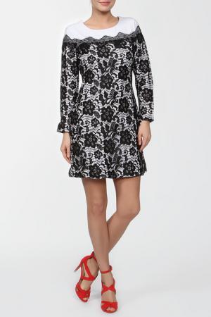 Платье LAFEI-NIER. Цвет: белый