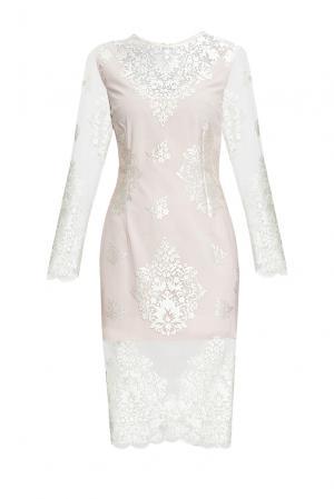 Платье из вискозы с искусственным шелком 163085 Msw Atelier. Цвет: бежевый