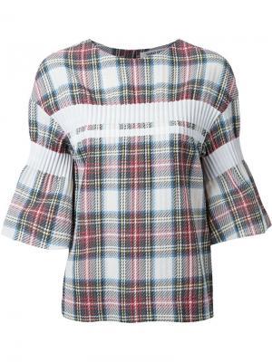 Блузка в клетку Taro Horiuchi. Цвет: многоцветный
