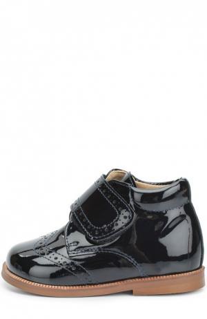 Лаковые ботинки с перфорацией Clarys. Цвет: синий
