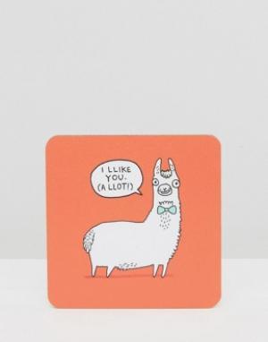 OHH DEER Подставка под напитки Llama. Цвет: мульти